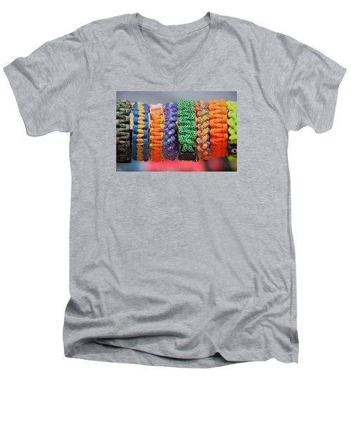 Bracelets Men's V-Neck T-Shirt by Lewis Mann