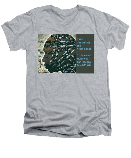 Brain Chains Men's V-Neck T-Shirt