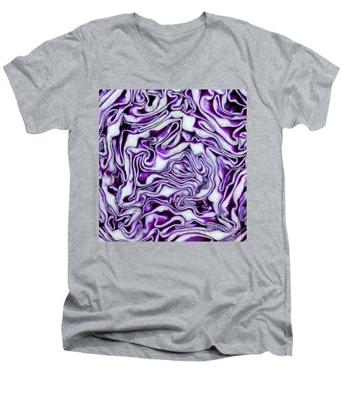 Men's V-Neck T-Shirt featuring the photograph Brain Food by Denise Pohl