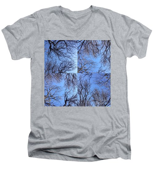 Branches Men's V-Neck T-Shirt by Nora Boghossian