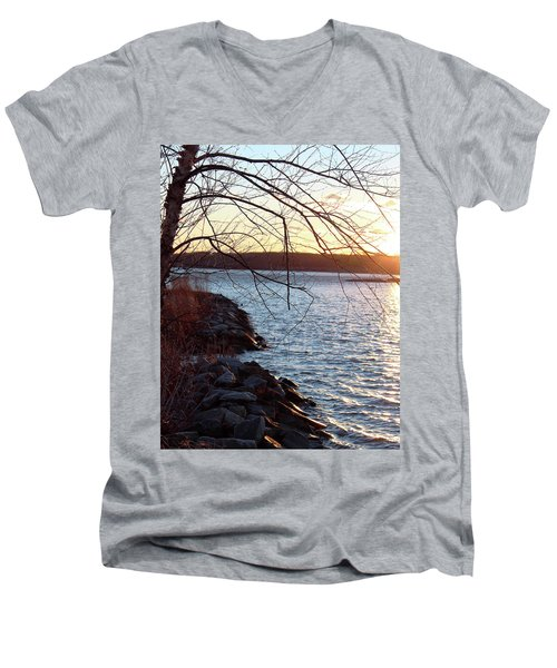 Late-summer Riverbank Men's V-Neck T-Shirt