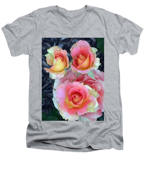 Brass Band Roses Men's V-Neck T-Shirt