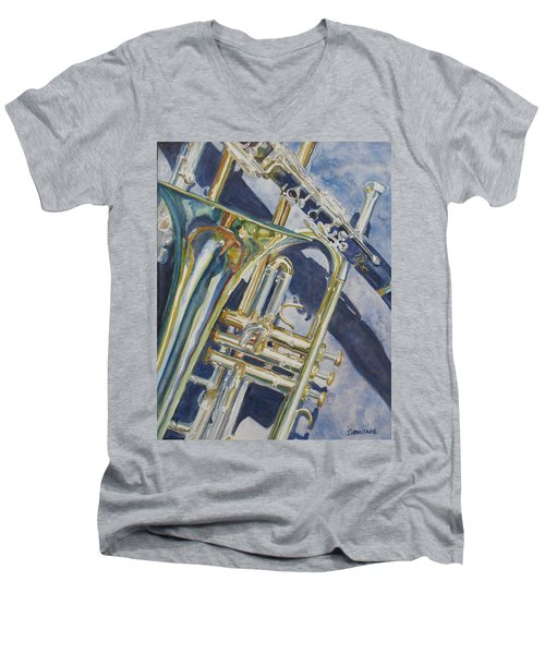 Brass Winds And Shadow Men's V-Neck T-Shirt