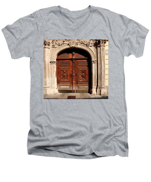 Bratislava Doors Men's V-Neck T-Shirt