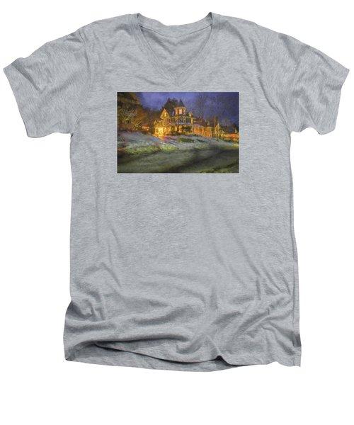 Brattleboro Victorian II Men's V-Neck T-Shirt by Tom Singleton