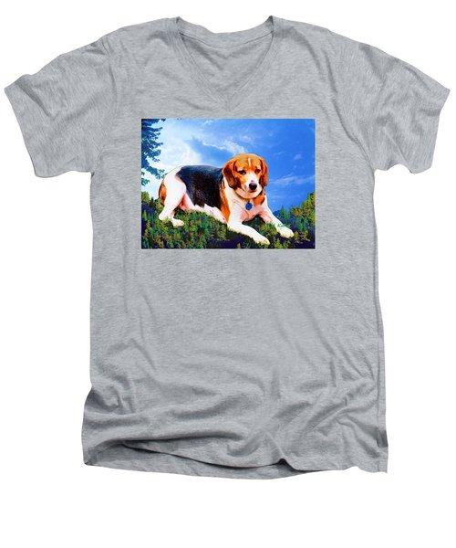 Bravo The Beagle Men's V-Neck T-Shirt