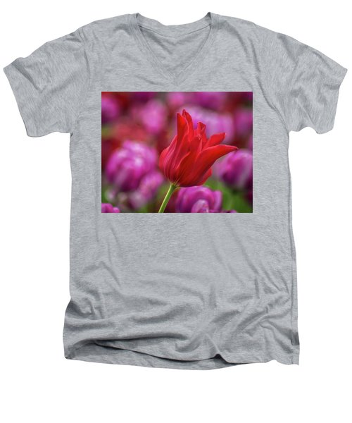 Men's V-Neck T-Shirt featuring the photograph Brazenly Delicate by Bill Pevlor
