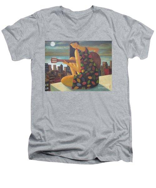 Brazil Men's V-Neck T-Shirt by Glenn Quist