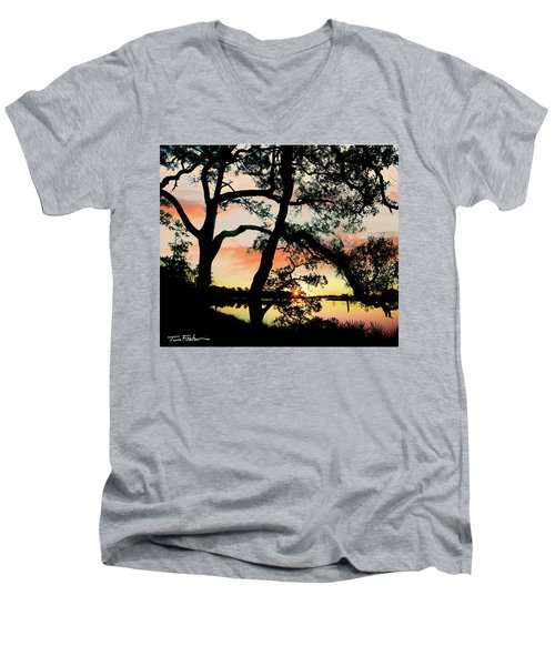 Break Of Dawn Men's V-Neck T-Shirt