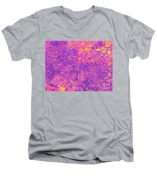 Break Through - Abstract Light Men's V-Neck T-Shirt