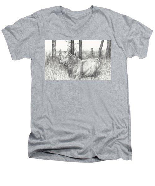 Breaker Study Men's V-Neck T-Shirt