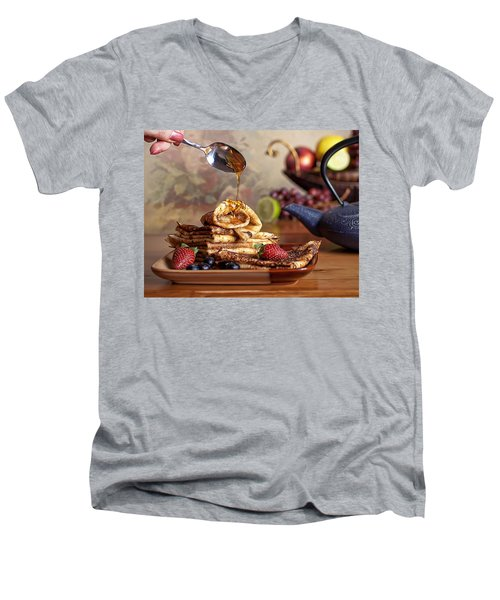 Breakfast Men's V-Neck T-Shirt