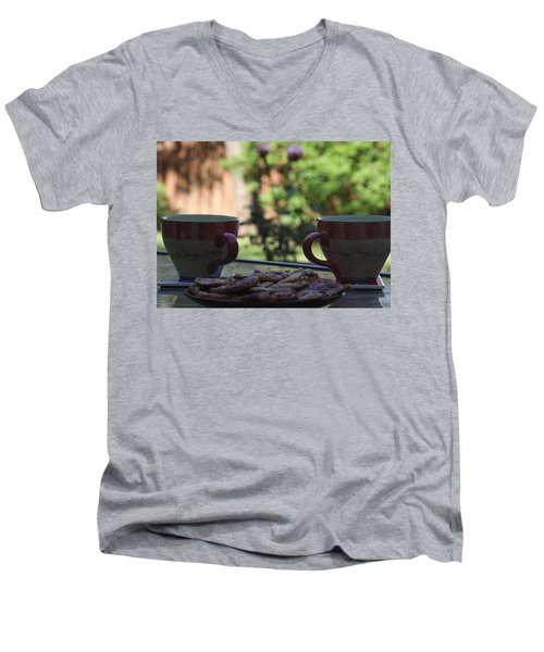 Breakfast Time Men's V-Neck T-Shirt by Vadim Levin