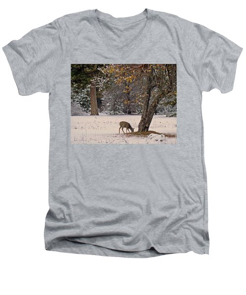 Men's V-Neck T-Shirt featuring the photograph Breakfast Time by Walter Fahmy