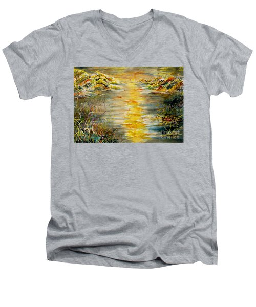 New Horizons Men's V-Neck T-Shirt by Alfred Motzer