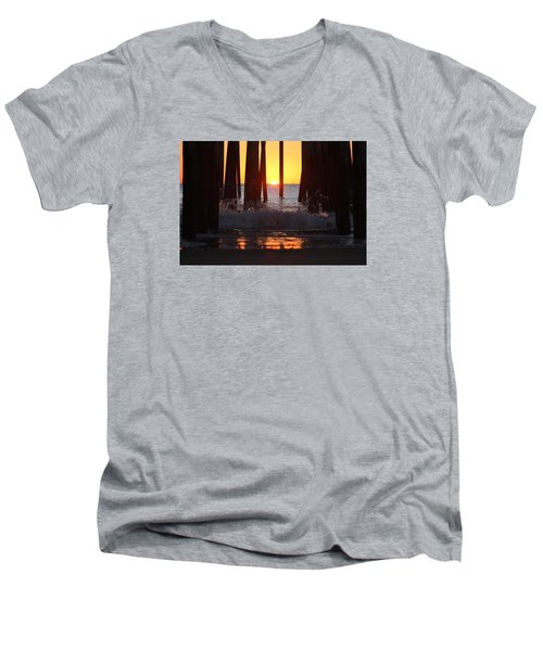 Breaking Dawn At The Pier Men's V-Neck T-Shirt