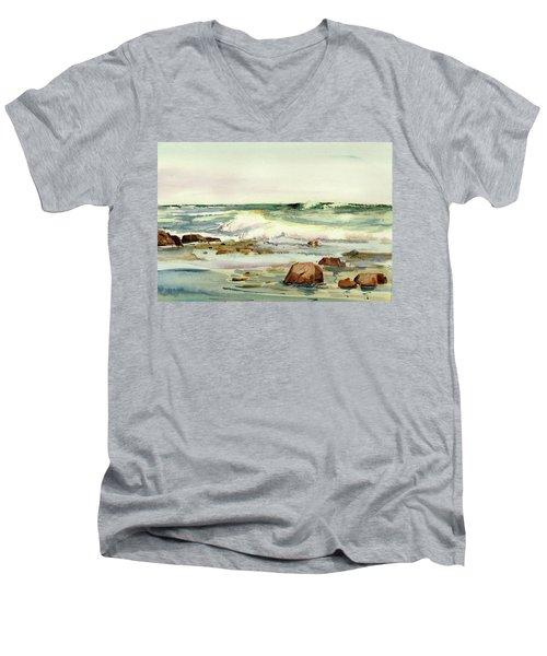 Breaking Seas Men's V-Neck T-Shirt
