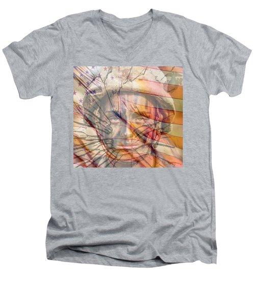Breaking The Glass Ceiling Men's V-Neck T-Shirt