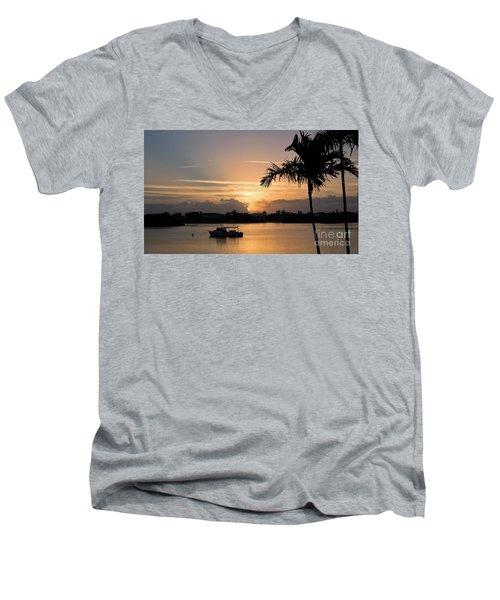 Breaking Through Men's V-Neck T-Shirt by Pamela Blizzard