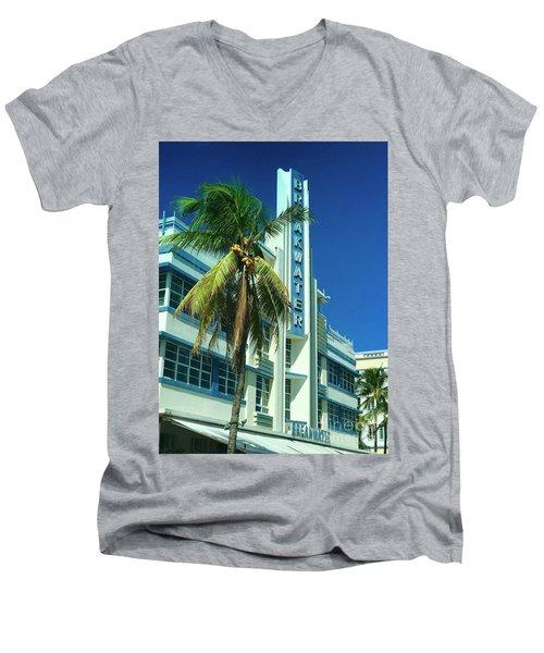 Breakwater Miami Beach Men's V-Neck T-Shirt