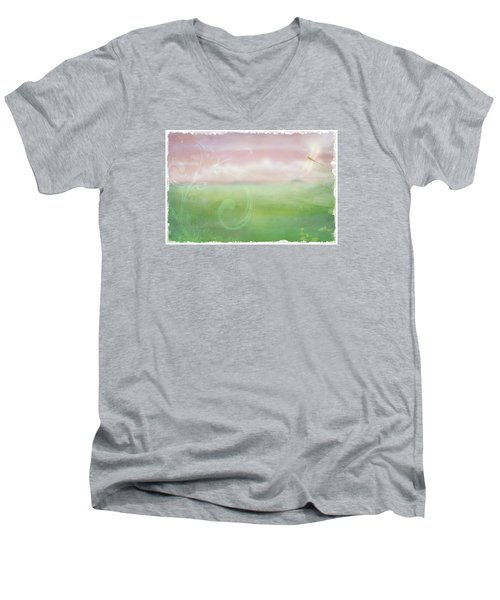 Breath Of Spring Men's V-Neck T-Shirt