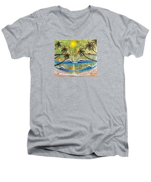 Breathe In Clarity  Men's V-Neck T-Shirt