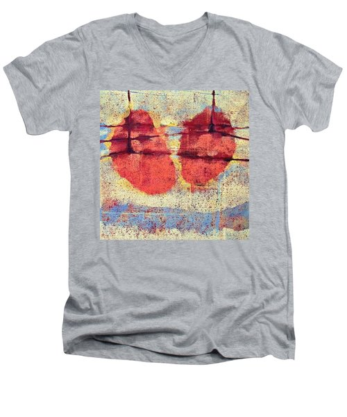 Breathe Men's V-Neck T-Shirt by Maria Huntley