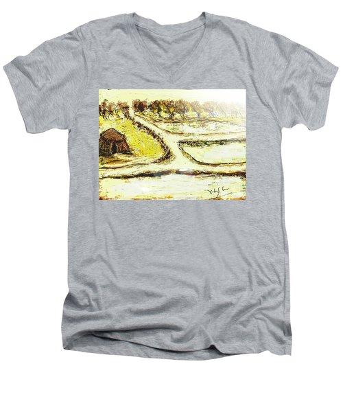 Breathing Zone3 Men's V-Neck T-Shirt
