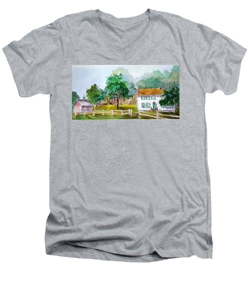 Brecknock Park Men's V-Neck T-Shirt by Larry Hamilton