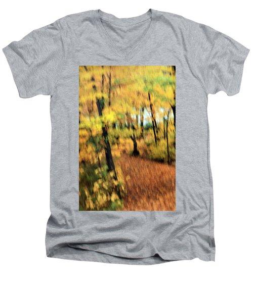 Men's V-Neck T-Shirt featuring the photograph Breeze by Allen Beilschmidt