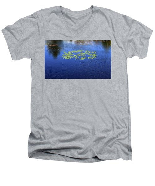 Breeze On The Water  Men's V-Neck T-Shirt by Lyle Crump