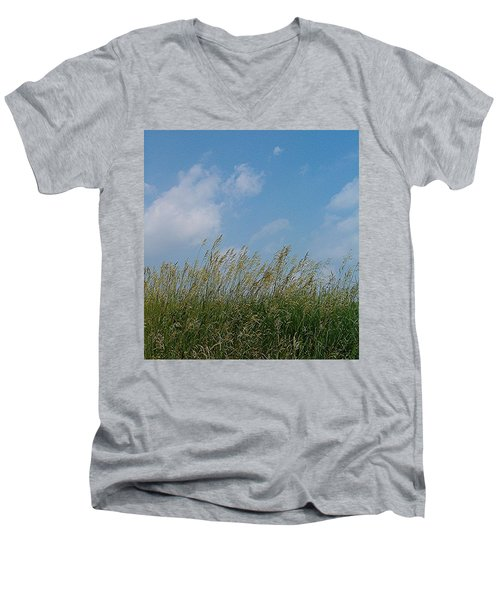 Men's V-Neck T-Shirt featuring the photograph Breezy Day by Sara  Raber