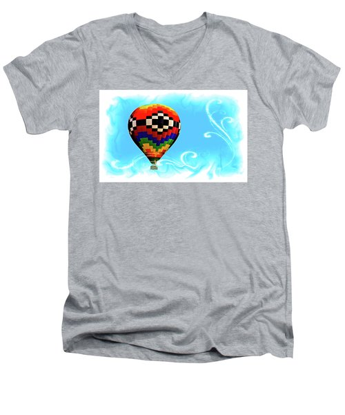 Men's V-Neck T-Shirt featuring the digital art Breezy by Gary Baird