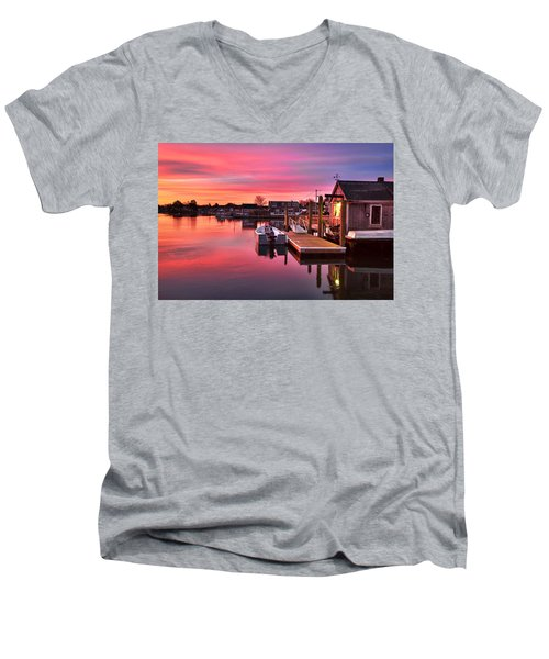 Brewsters In The South End Men's V-Neck T-Shirt