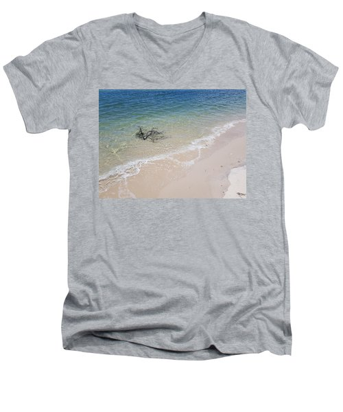 Bribie Branches 2 Men's V-Neck T-Shirt