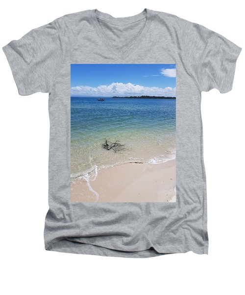 Bribie Branches  Men's V-Neck T-Shirt
