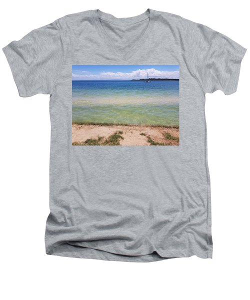 Bribie Ocean  Men's V-Neck T-Shirt