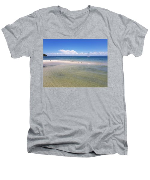 Bribie Waters Men's V-Neck T-Shirt