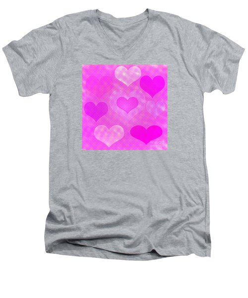 Brick Hearts Men's V-Neck T-Shirt