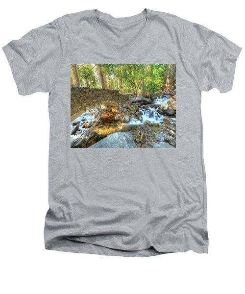 Bridalveil Creek At Yosemite By Michael Tidwell Men's V-Neck T-Shirt