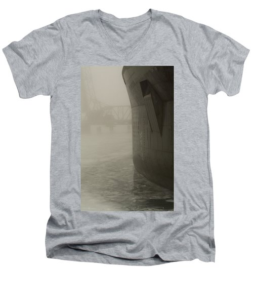 Bridge And Barge Men's V-Neck T-Shirt