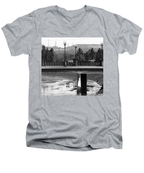 Bridge And Shopping Cart Men's V-Neck T-Shirt