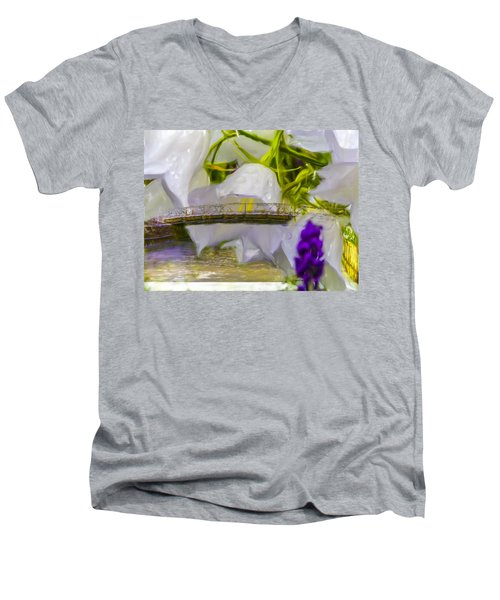 Bridge Flower.  Men's V-Neck T-Shirt