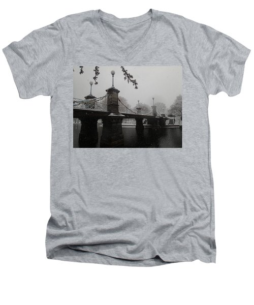 Bridge In Suspension 1867 Men's V-Neck T-Shirt