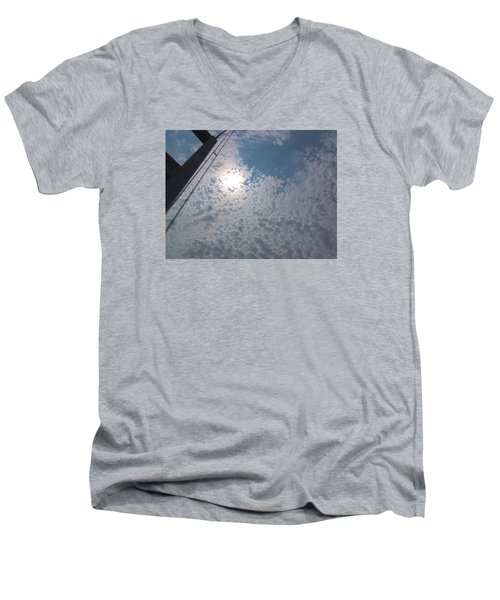 Bridge Meet Sky Men's V-Neck T-Shirt by John Rossman