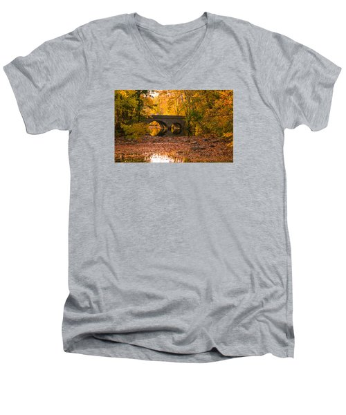Bridge Of Gold Men's V-Neck T-Shirt by Cathy Donohoue