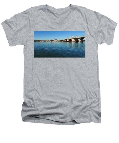 Bridge Of Lions, St. Augustine Men's V-Neck T-Shirt