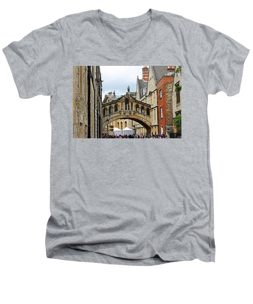 Bridge Of Sighs Men's V-Neck T-Shirt by Tony Murtagh