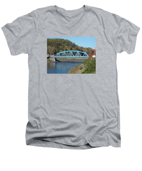 Bridge Over Rondout Creek 2 Men's V-Neck T-Shirt