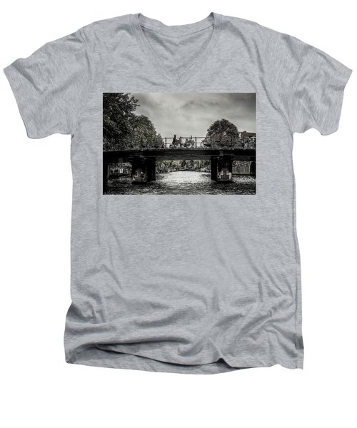 Bridge Over Still Water Men's V-Neck T-Shirt